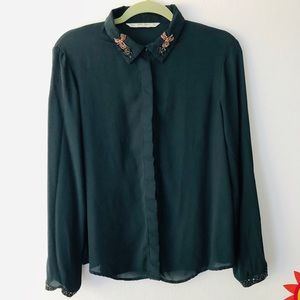 Zara basic shirt dark blue size XL